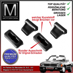 4 pieces sunvisor clip set black for Mercedes SL 107