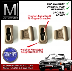 4 pieces sunvisor clip set beige for Mercedes SL 107