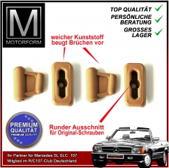 4 pieces sunvisor clip set camel for Mercedes SL 107