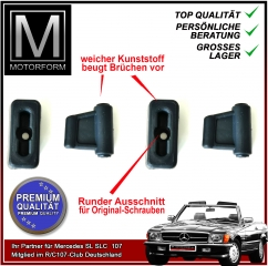 4 pieces sunvisor clip set blue for Mercedes SL 107