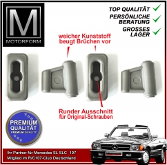 4 pieces sunvisor clip set grey for Mercedes SL 107