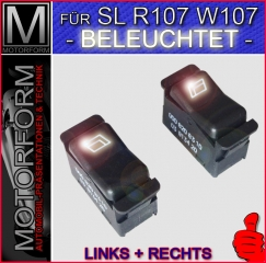 Window Switch illuminated for Mercedes SL 107 1982-89
