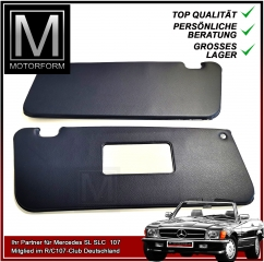 2 pieces sunvisor set blue for Mercedes SL 107