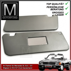 2 pieces sunvisor set grey for Mercedes SL 107