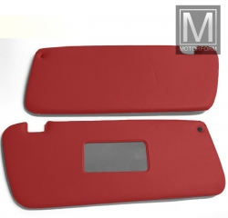2 pieces sunvisor set red for Mercedes SL 107