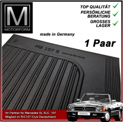 2 pieces sill cover set black for Mercedes SL 107