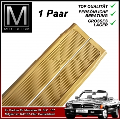2 pieces sill cover set beige cream for Mercedes SL 107