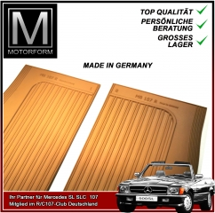 2 pieces sill cover set palomino/camel for Mercedes SL 107
