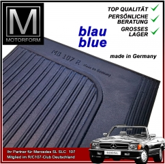 2 pieces sill cover set blue for Mercedes SL 107