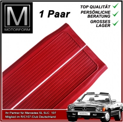 2 pieces sill cover set red for Mercedes SL 107
