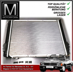 Radiator for Mercedes 300SL 420SL 500SL 560SL 107
