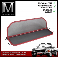 Wind Deflector RED for Mercedes SL 107 280SL - 560SL