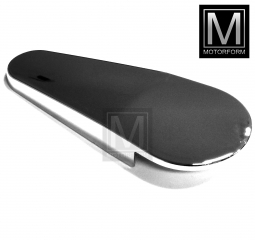 Upper right seat chrome cover SL 107 9/77 on w. armrest