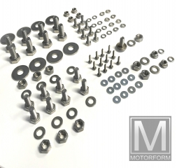 106 pieces stainless steel screw set for rear SL 107 bumper