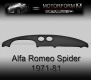 Alfa Romeo Spider 1971-81 Dashboard-Cover black