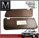 2 pieces sunvisor set dark brown for Mercedes SL 107
