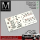 engine label sticker for 280SL 280SLC 107 M110