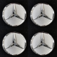 4 OE Centre Caps for Gulli design wheel size 8x16 H2 ET11 NEW