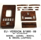 Burl walnut wood set for Mercedes SL 107 - 10 pieces - EU