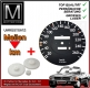 Speedo plate + gears KIT Mercedes 560SL 107